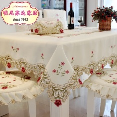 European Style Tablecloth Fabric Round Tablecloth Rectangular Tablecloth Throw Pillow Cover Set Dining Chair Cover Table Cloth Table Runner By Taobao Collection.