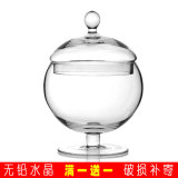 Discount European Transparent Glass Candy Jar With Lid Soft Dress Oem