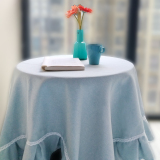 Best Offer Fabric Solid Color Coffee Table Cloth Computer Table Small Round Table