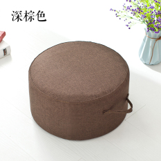 Solid Color Fabric Futon throw pillow Living Room Stool Teapoy Table throw pillow Washable round throw pillow Thick Tatami throw pillow