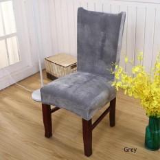 Fancyqube Chic Fox Velvet Chair Covers Grey - intl