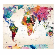 Fancyqube World Map Mandala Wall Hanging Tapestry Mat Bedspread Dorm Living Room Decor H01-S - intl
