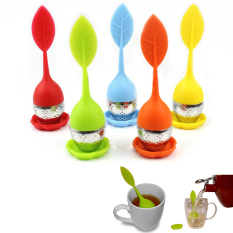 Price Fancytoy 1Pc Random Color Silicone Stainless Leaf Tea Strainer Teaspoon Infuser Oem Online