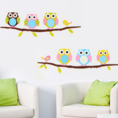 List Price Fancytoy Diy Removable Owl Birds Branch Vinyl Home Decor Mural Wall Stickers Decal Oem