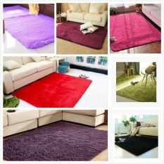 Fantastic Flower 15 Colors Hot Products Non-slip carpet WOW Home Rugs Yoga mats Living Bedroom Plush Rugs (5 Sizes)-Black-80cm by 160cm - intl