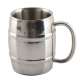 Best Price Fashion 420Ml Stainless Steel Cup Double Layers Good Heat Insulation Effect Mug With Large Handle For Home Restaurants Cafes Diy Chilled Beer Iced Coffee Tea Vodka Gin Rum Tequila Hot Coffee Milk Tea Whiskey Mixed Drinks Intl