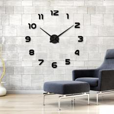 Fashion DIY Large 3D Number Mirror Wall Sticker Big Watch Home Decor Art Clock - intl