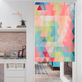 Review Fashion Simple Curtain Geometric Triangle Curtains Bathroom Off The Living Room Entrance Block Curtain Linen Japanese China