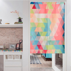 Sales Price Fashion Simple Curtain Geometric Triangle Curtains Bathroom Off The Living Room Entrance Block Curtain Linen Japanese