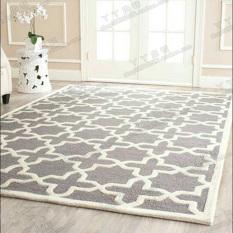 Fashion Simple European Style Rug Living Room Teapoy Table Sofa Rug Bedroom Bedside Wall-to-Wall Handmade Acrylic Carpet