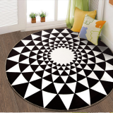 How To Get Popular Brand Fashion Black And White Living Room Bedroom Mat Rug