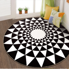 Purchase Popular Brand Fashion Black And White Living Room Bedroom Mat Rug