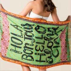 Fashion Wall Tapestry Beach Towels Polyester Yoga Mat Bikini Cover-Up Blanket Washable Women Swimming Sunbath Covers Travel Blankets 100x150cm - intl