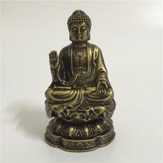 Feng Shui Buddha Statue For Home Office Decoration Bronze Shakya Muni Buddha Statue Handicraft - intl