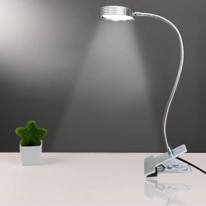 Fengsheng Silver Day White LED Flexible Reading Light Clip-on Bed Table Desk Lamp - intl Singapore