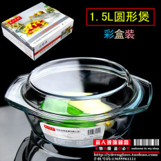 Best Fenix Transparent Tempered Glass Pot With Lid Stew Pot