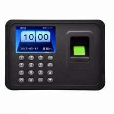 Fingerprint Attendance Machine Dc 5V 1A Time Clock Recorder Employee Checking In Reader A6 2 4 Tft Lcd Display Usb Biometric Intl Price Comparison