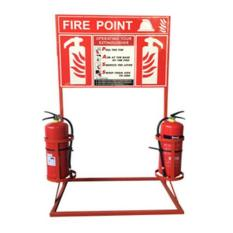 Fire Extinguisher Frame & Signboard [Fire Point]