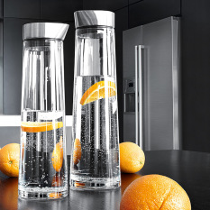 Promo Fisca 1L Glass Water Carafe Pitcher With Stainless Steel Lid