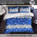 Review Fitted Bed Sheet Set Brushed Microfiber Breathable Extra Soft And Comfortable Wrinkle Fade And Stain Quality Extremely Durable Fresh Flower Design Singapore