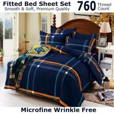 Buying Fitted Bed Sheet Set Brushed Microfiber Breathable Extra Soft And Comfortable Wrinkle Fade And Stain Quality Extremely Durable Navy Stripe Design