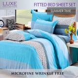 Discount Fitted Bedsheet Set Summer Time Design 4 Sizes Single Supersingle Queen King Bedsheets Luxe Collection On Singapore