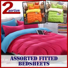 Buy Cheap Fitted Bedsheets Single Purple Grey