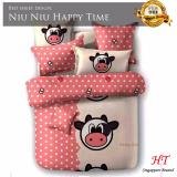 Best Offer Fitted Design Bed Sheet Set Brushed Microfiber Breathable Extra Soft And Comfortable Wrinkle Fade And Stain Quality Extremely Durable Niu Niu Happy Time Design