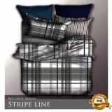 Shop For Fitted Design Bed Sheet Set Brushed Microfiber Breathable Extra Soft And Comfortable Wrinkle Fade And Stain Quality Extremely Durable Stripe Line Design