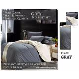 How To Get Fitted Plain Color Sheet Brushed Microfiber Breathable Extra Soft And Comfortable Wrinkle Fade And Stain Quality Extremely Durable Plain Grey