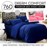 Buy Fitted Plain Color Sheet Brushed Microfiber Breathable Extra Soft And Comfortable Wrinkle Fade And Stain Quality Extremely Durable Plain Navy Blue Cheap Singapore