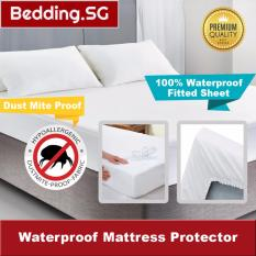Fitted Waterproof Mattress Protector - Protect Against Dust Mites By Bedding Sg.