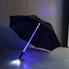 Five Star Store Cool Light Saber LED Steady on/fast Flashing Light Up Umbrella Night Protection Black New - intl