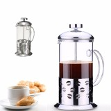 Retail Five Star Store Stainless Steel Glass Cafetiere Teapot Pot Filter Coffee Tea Press Plunger 600Ml