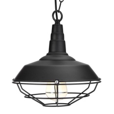 Fixture Ceiling Lamp Retro Industrial Vintage Pendant Light Decor Chandelier Black - intl