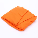 Flat Fitted Sheet Set Cotton Solid Color Bed Cover 180X200Cm Orange Coupon Code