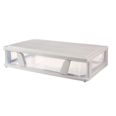 Flat Case with Roller Bed the End of Storage Box Bed Base Cabinet Plastic under the Bed Storage Box Large Size Clothes Finishing Box Storage Box