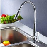 Best Reviews Of Flexible Chrome Brass Pull Out Spring Kitchen Faucet 360 Swivel Spout Sink Tap
