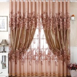 The Cheapest Floral Voile Window Curtain Blackout Tulle Curtain Living Room Drape Panel Intl Online