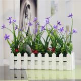 Flower Pot Home Decorations Living Room Coffee Table Ornaments Wood Fence Simulation Floral Suit Photographed Props For Sale