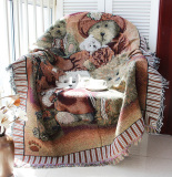 Sale Recliner Sofa Sets American Country Cloth Pure Cotton Decorative Blanket On China