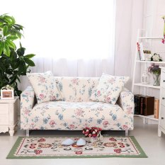 Flowers print stretch sofa cover universal Slipcover for 3 Seater (Length Range for 190-230cm/74.8-90.6)