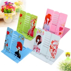 Foldable Bookend Storage Bookshelf Holders Racks Lazy Kids Bookcases & Shelving Book Clip Reader Tool Children Accessories Supplies - intl