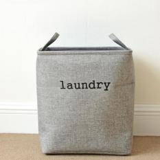 Price Comparisons Foldable Cotton Linen Storage Basket Clothes Storage Baskets Handle Stackable Laundry Pouch Household Sundries Organizer 36 26 40Cm