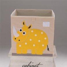 Foldable Cube Storage Bin Waterproof Cartoon Animal Toy Box for Kids 8# - intl
