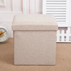 Low Cost Fabric Folding Household Footstool Stool