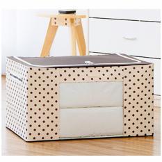 Foldable Space Saving Storage Box Pokka Dot Coffee Price