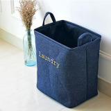 Price Folding Cotton Linen Storage Basket Dirty Clothes Laundry Baskets Pouch Portable Washing Hamper 36X26X40Cm Oem Online