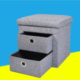 Best Deal Folding Storage Home Multifunction Stool Changing His Shoes Storage Stool
