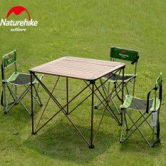 Folding Table Portable Plastic Auminum Indoor Outdoor Picnic Dining Camping Desk Sliver - intl